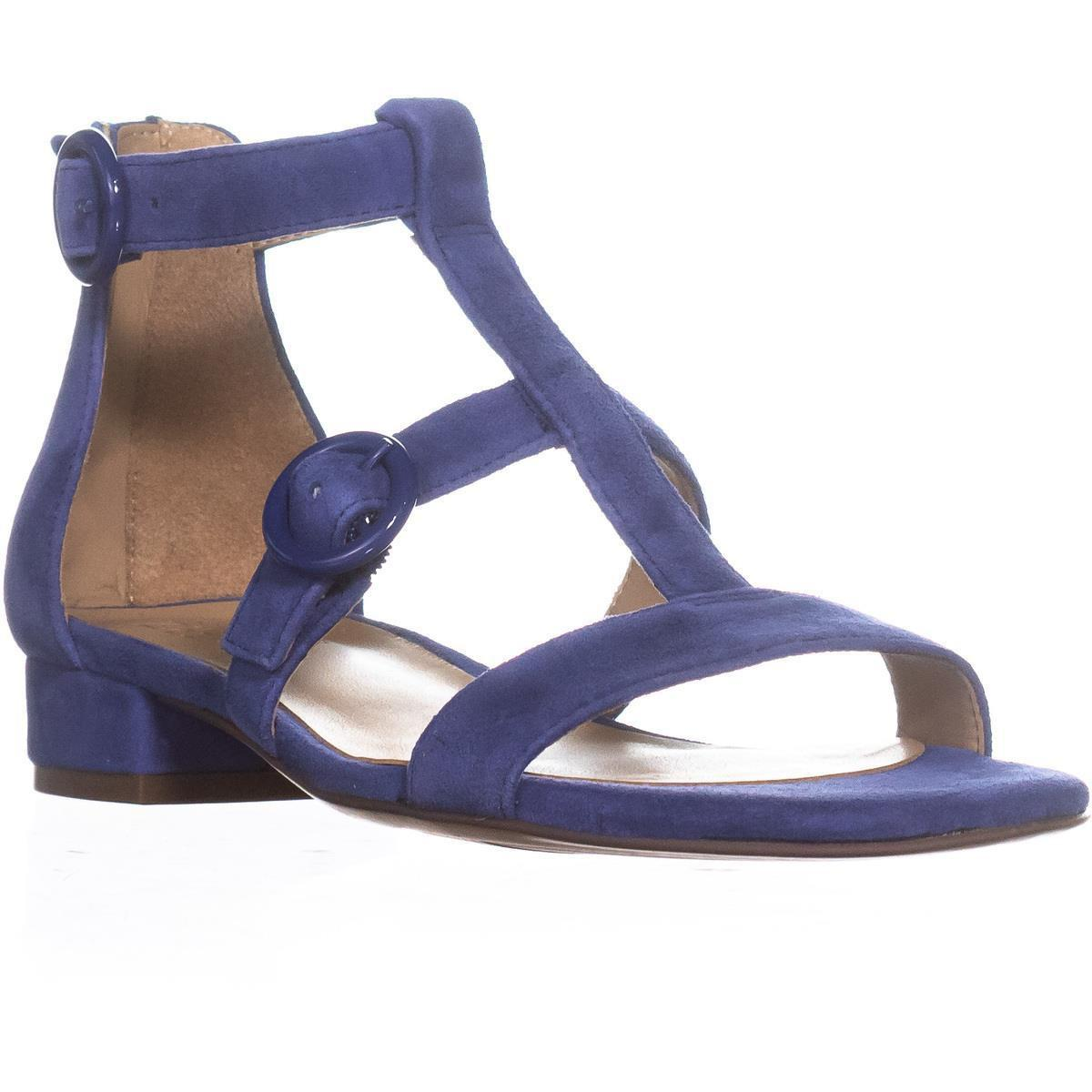 5cb313b932e9 Naturalizer Mabel Flat Ankle Strap Sandals in Blue - Lyst