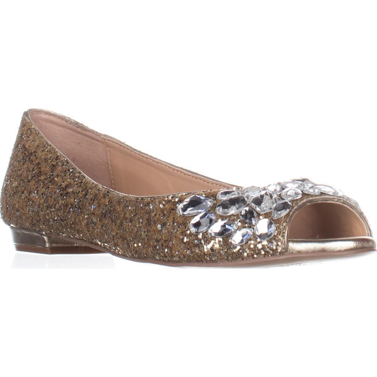 29c22fd77 Lyst - Badgley Mischka Jewel By Claire Rhinestone Ballet Flats
