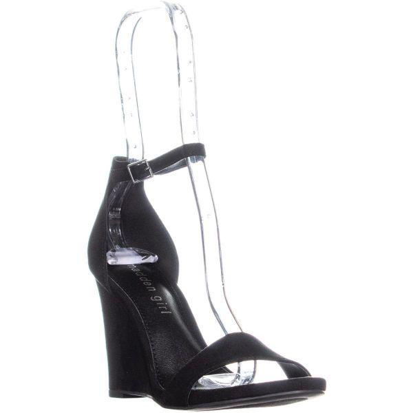 a30e7d357bf Lyst - Madden Girl Willoow Wedge Ankle Strap Sandals in Black
