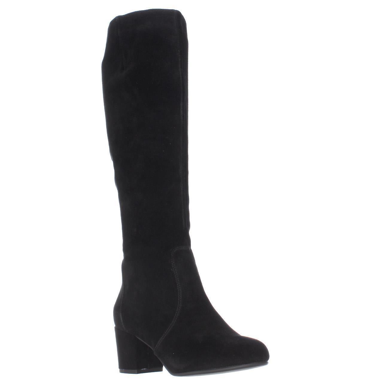 0d6e37fb6091 Lyst - Steve Madden Haydun Block Heel Tall Boots in Black