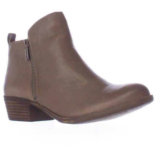 690554c5f03ec Lyst - Lucky Brand Basel Side Zip Ankle Boots in Brown - Save ...
