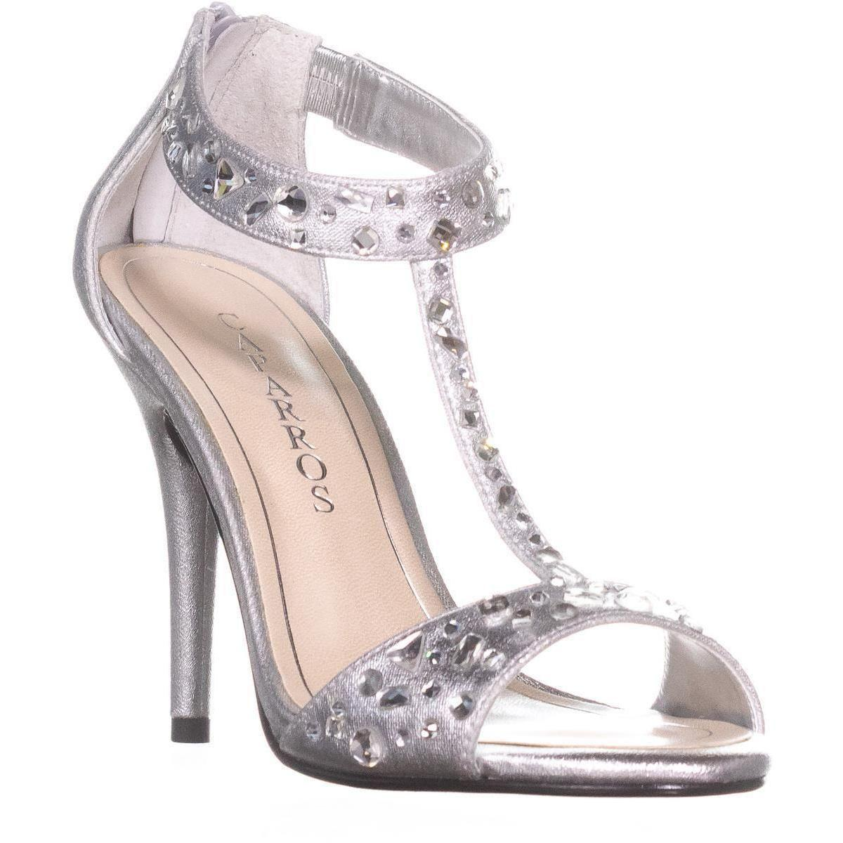 7b807fbf8 Lyst - Caparros Esther T-strap Evening Sandals in Metallic - Save 12%