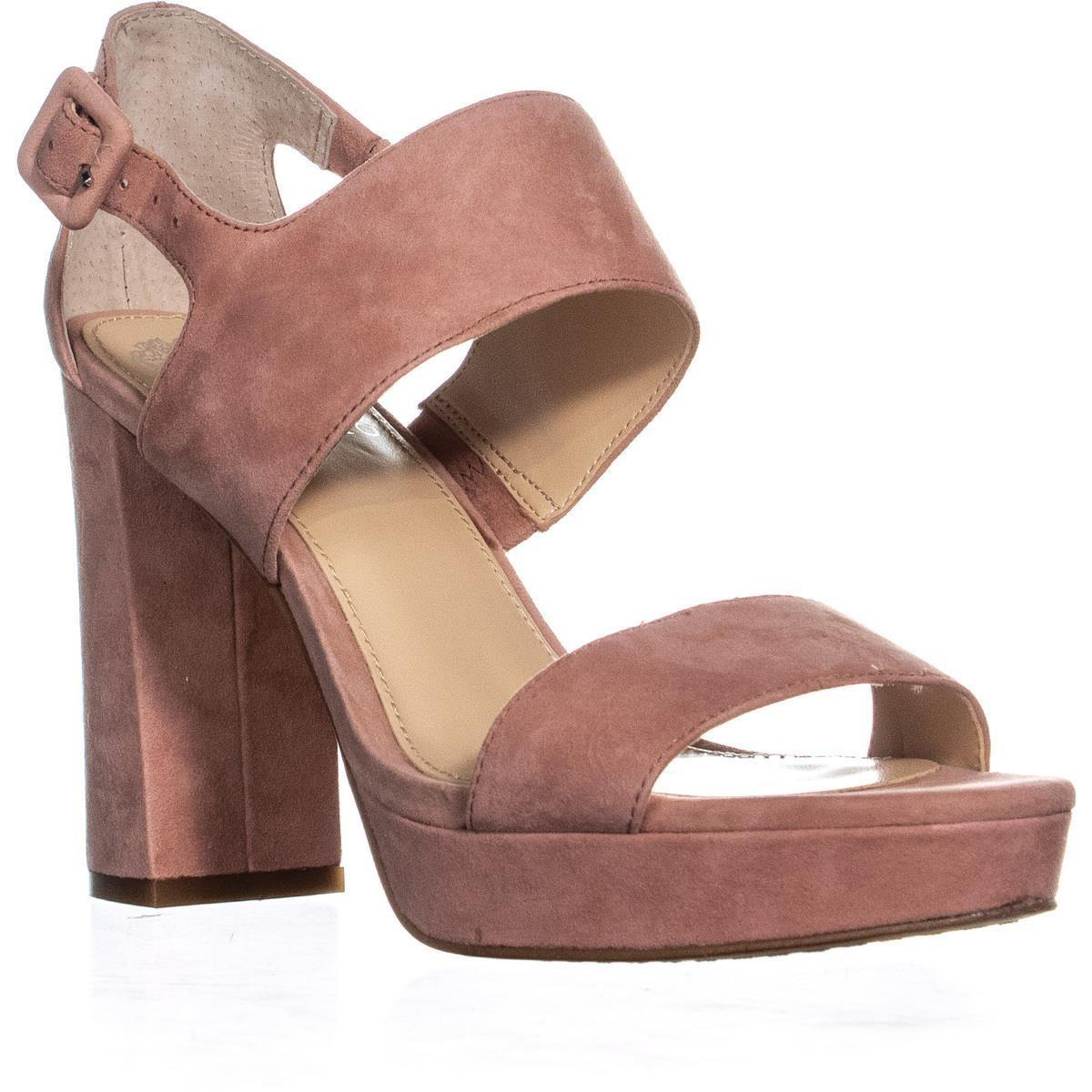 2b6ee69fabe Lyst - Vince Camuto Jayvid Block Heel Sandals in Pink