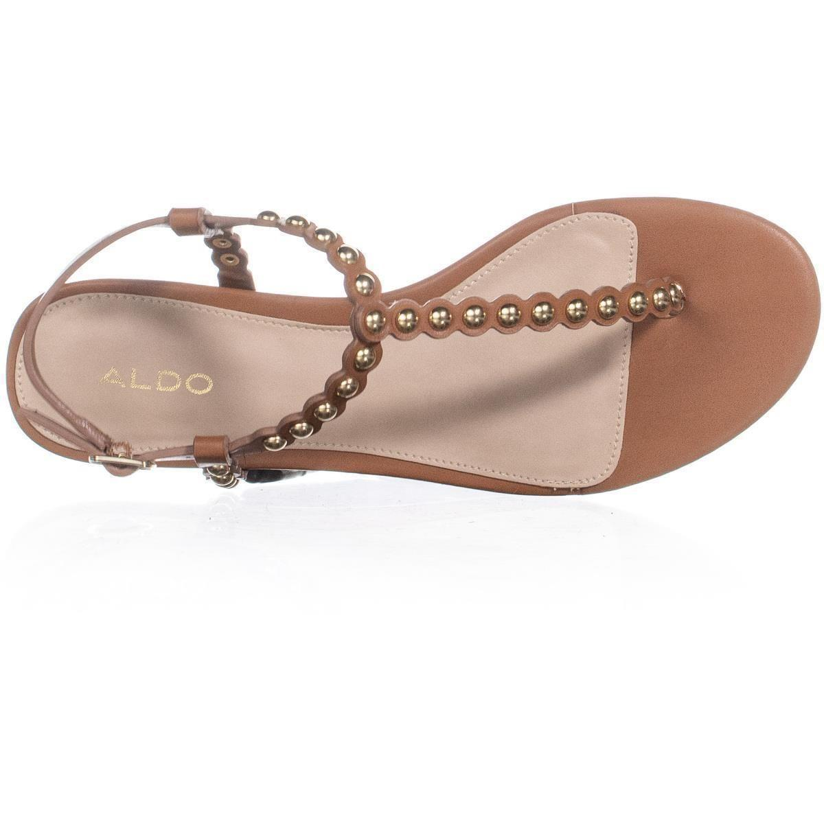 5cd01460f234 Lyst - ALDO Balata Flat T-strap Buckle Sandals - Save 13%