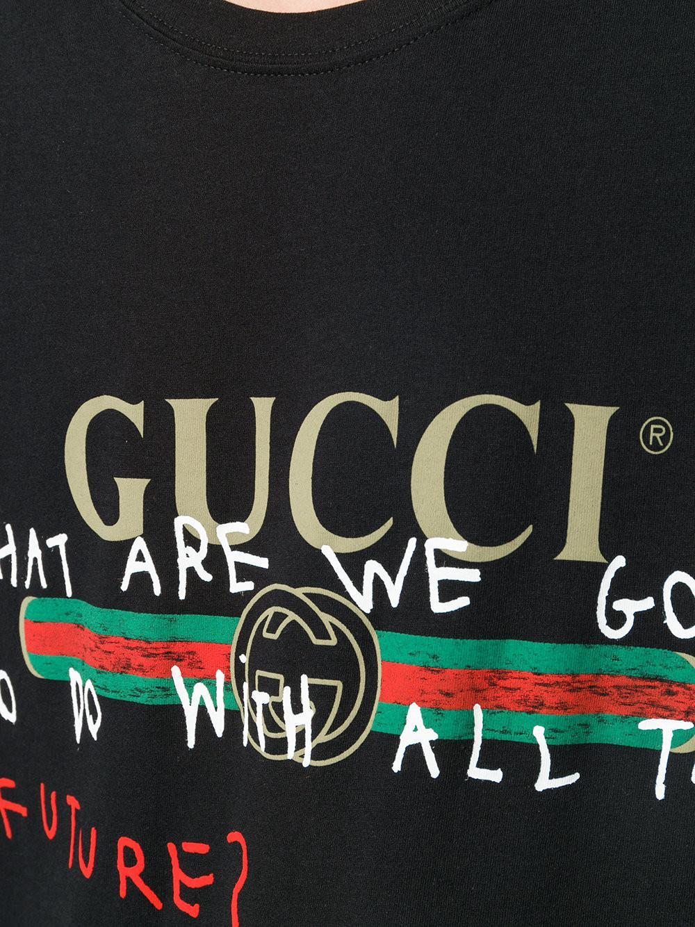 fada8f7af Gucci X Coco Capitan T-shirt in Black for Men - Lyst