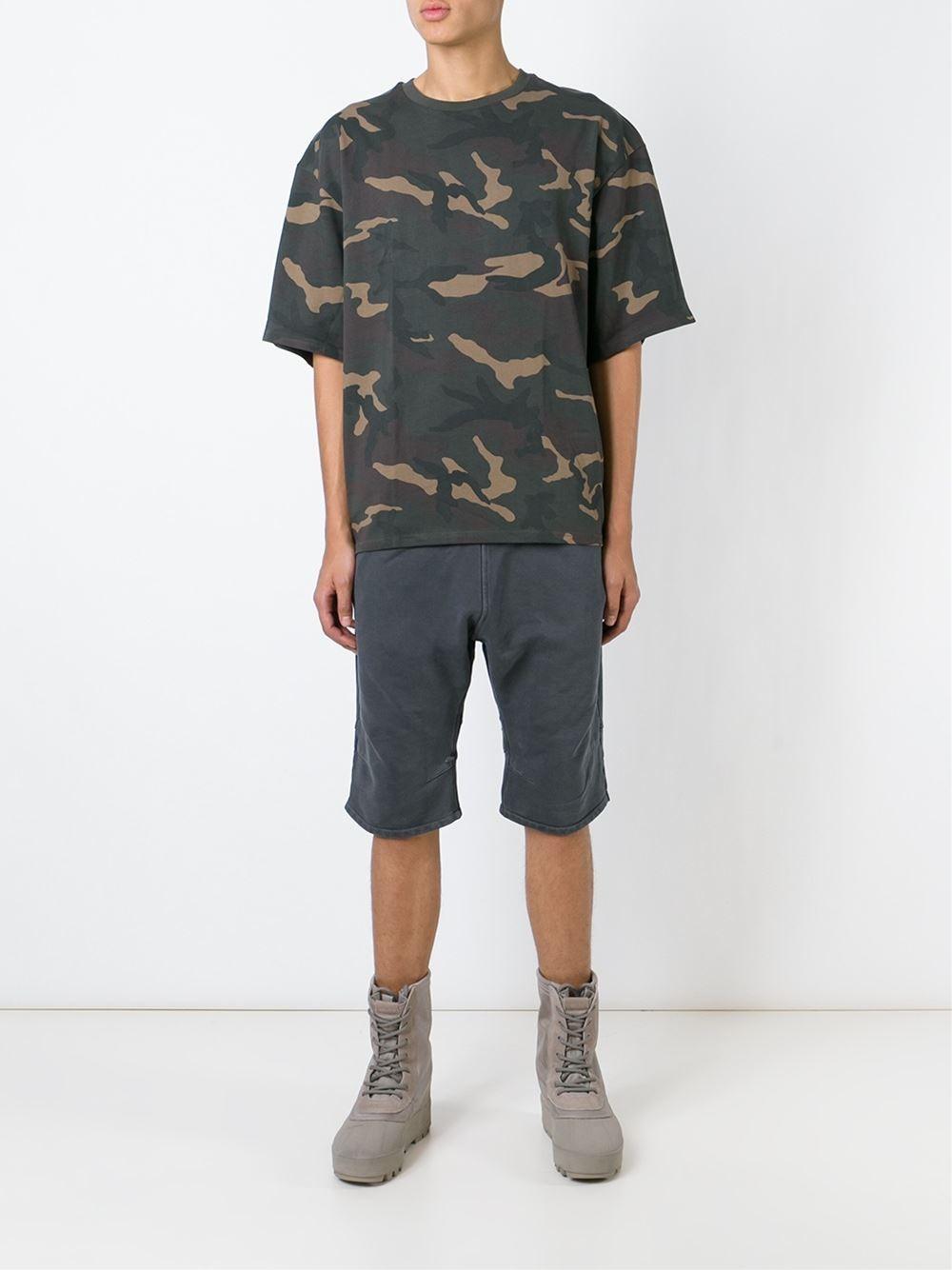 lyst yeezy adidas originals by kanye west track shorts