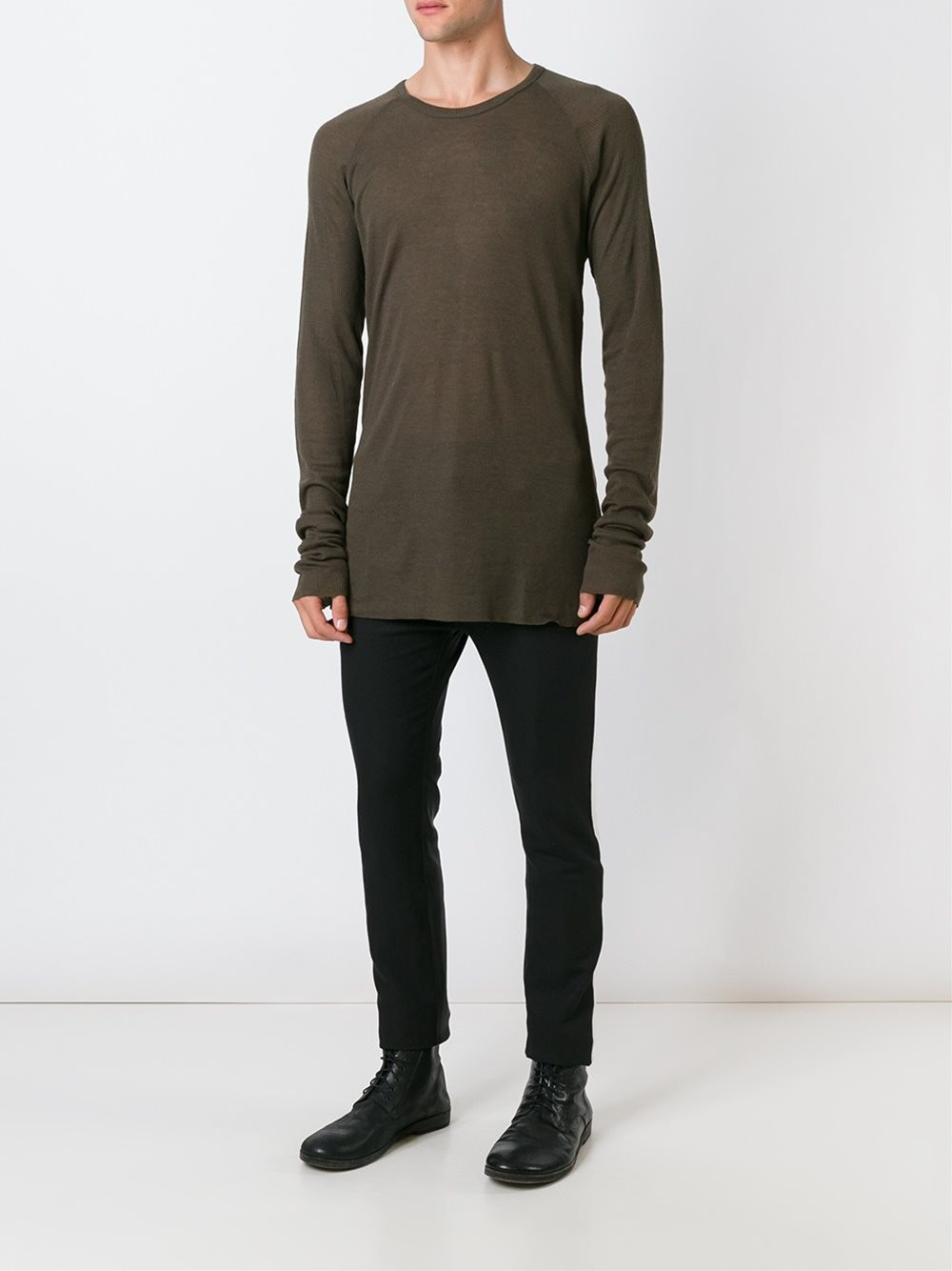 haider ackermann crew neck sweater in blue for men lyst. Black Bedroom Furniture Sets. Home Design Ideas