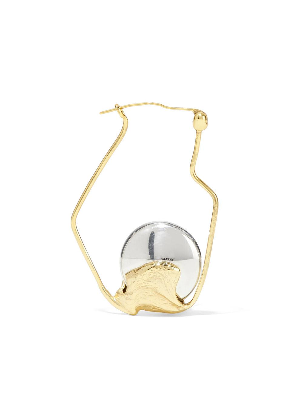 Cusp Oyster gold-plated earrings Ellery