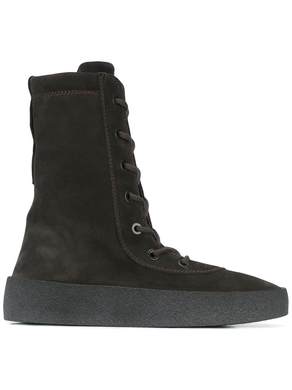 930a088a106d1 Yeezy Suede Crepe Boot in Black for Men - Lyst