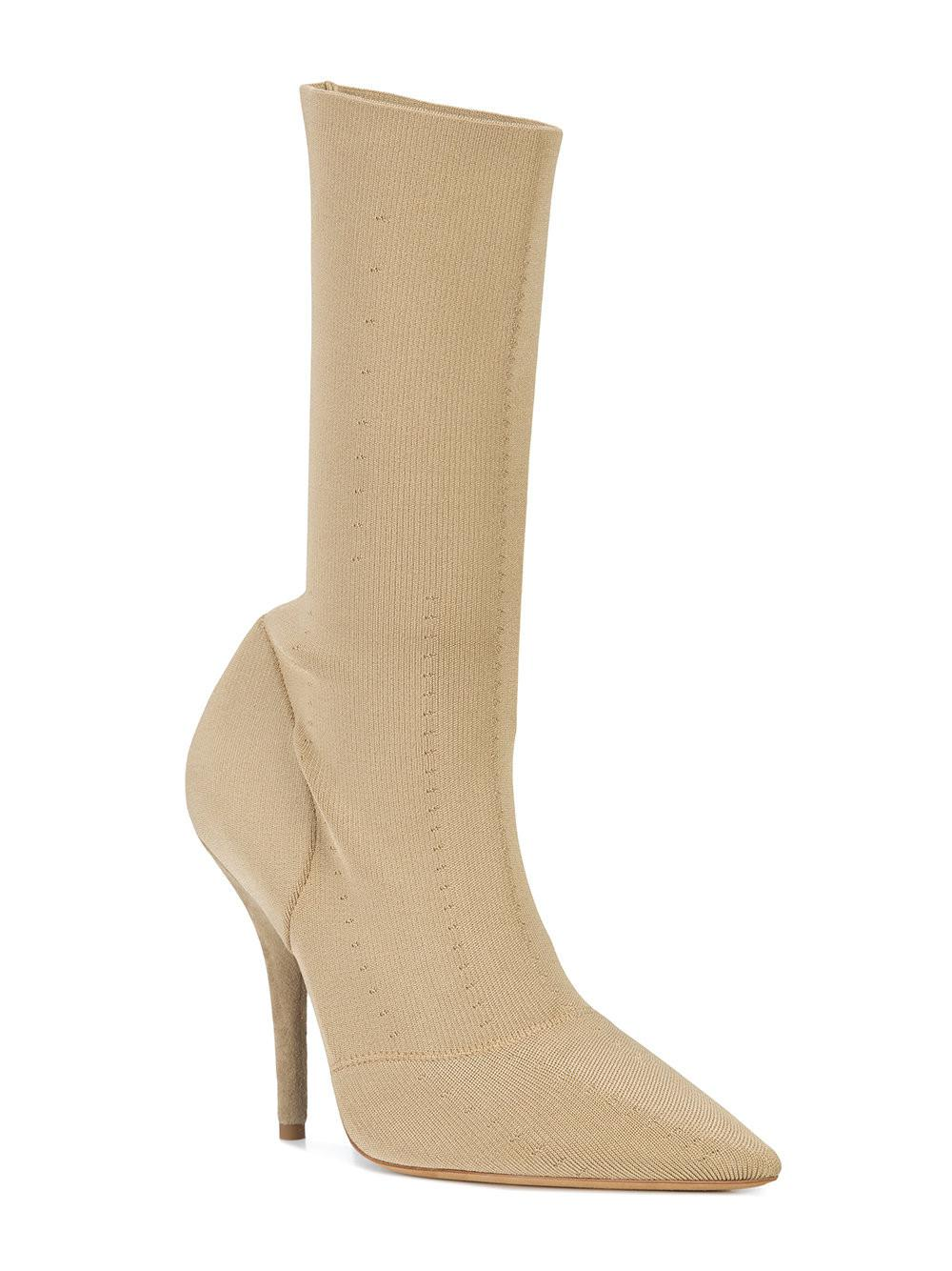 bf8250bc888 Lyst - Yeezy Knit Ankle Boots in Natural - Save 50%