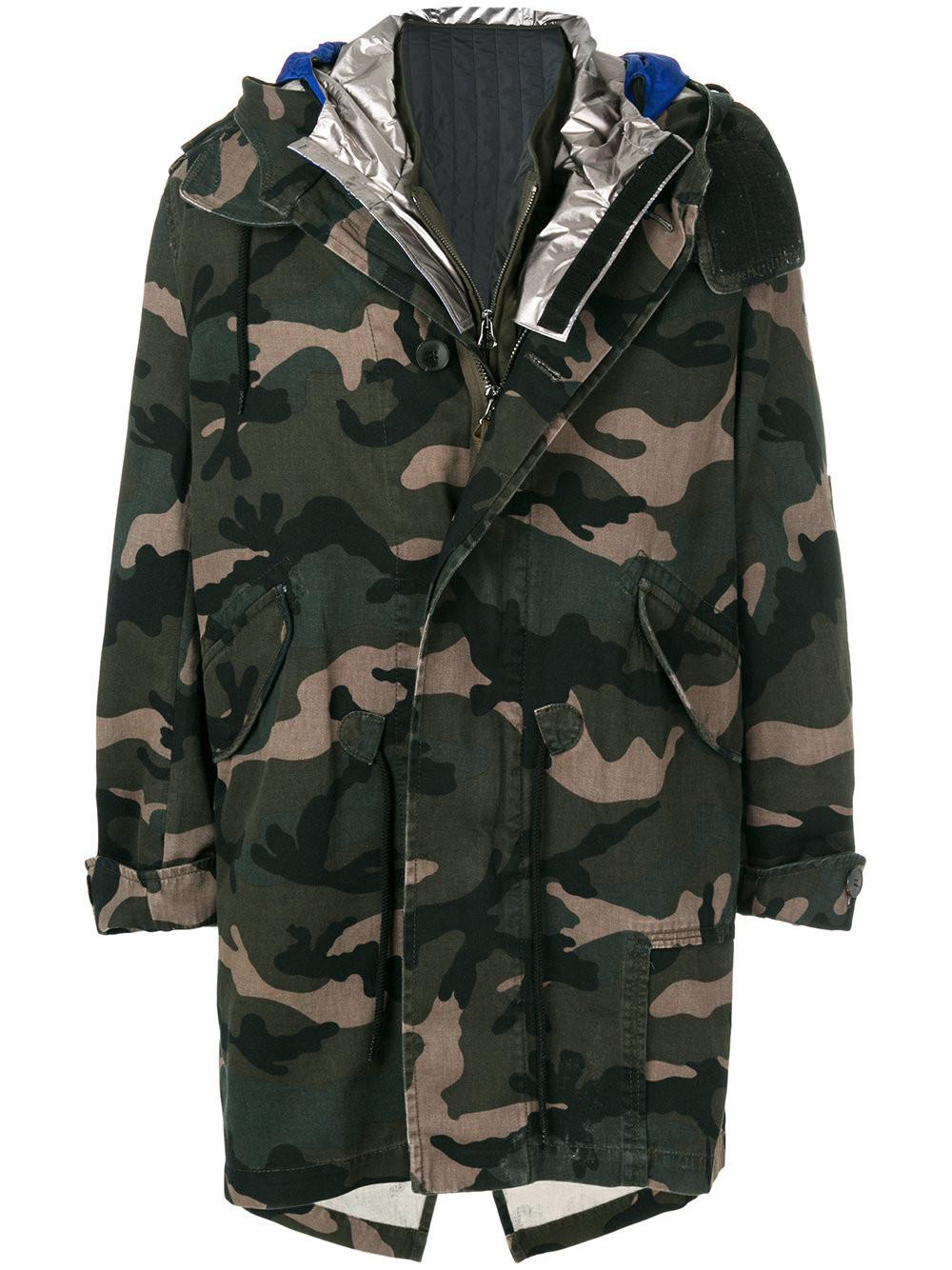 6a75553836afc Lyst - Valentino Camouflage Parka for Men