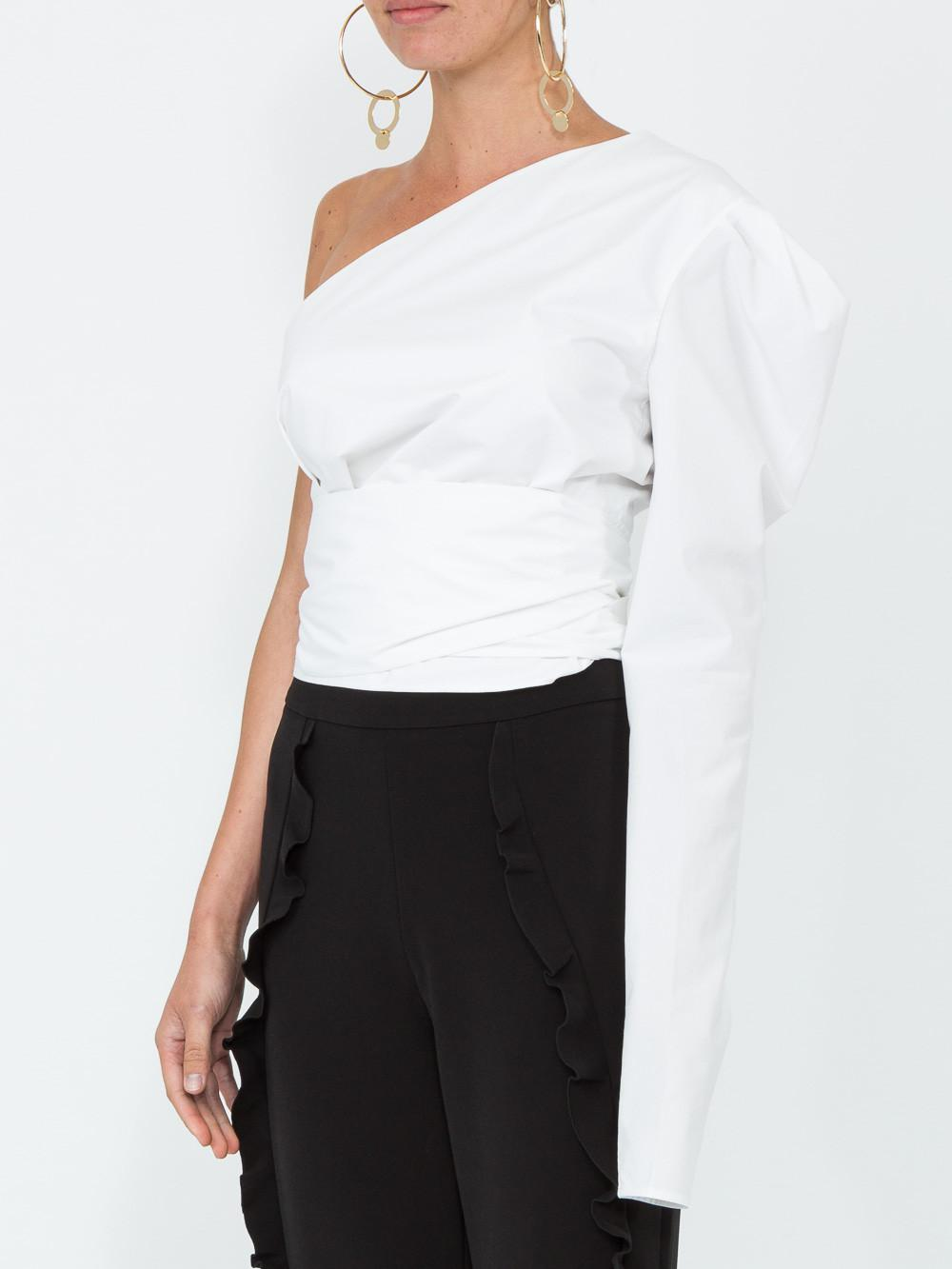 Sale For Sale One-Shoulder Silk Blouse Alexandre Vauthier Best Place For Sale Hot Sale Cheap Price OLqIioi
