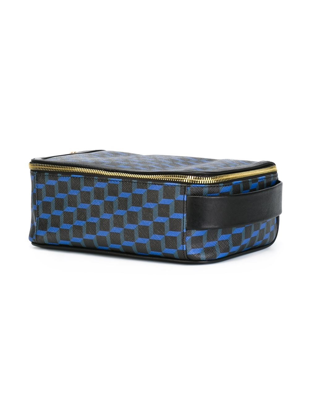 Lyst Pierre Hardy Cube Print Wash Bag In Blue
