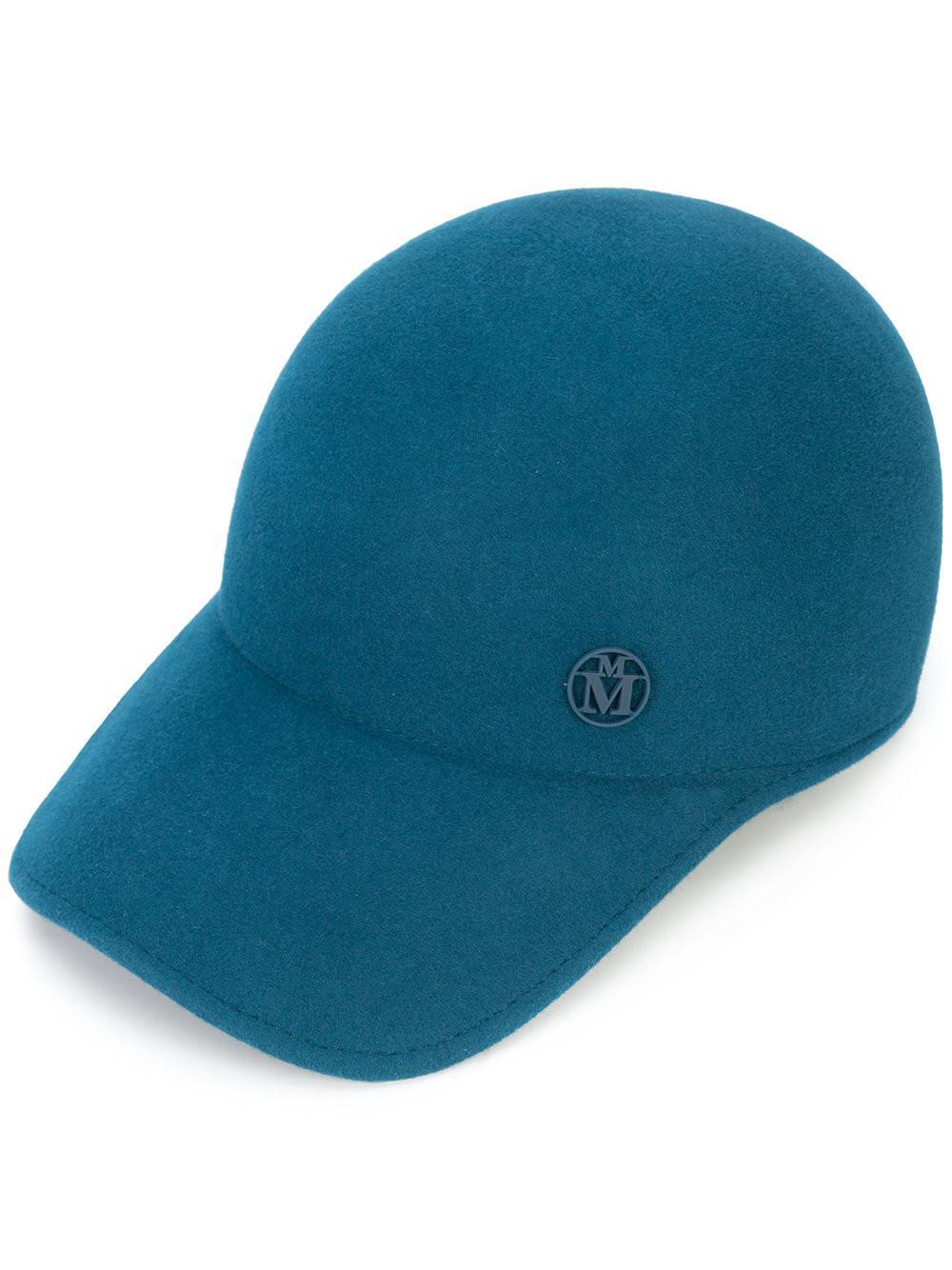 c3dac2b414b Maison Michel Classic Baseball Cap in Blue - Save 37.31527093596059 ...