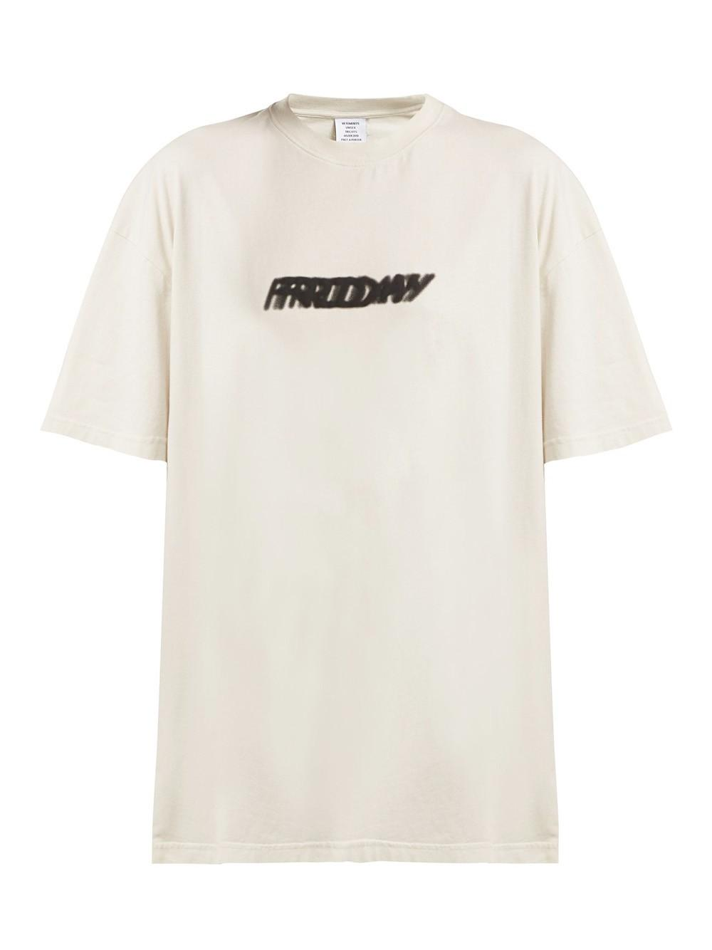 5a19acb6 Vetements Weekday T-shirt in White - Save 13% - Lyst
