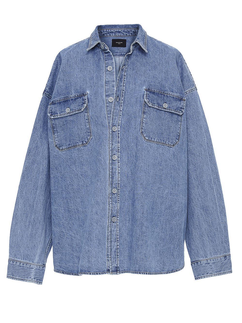 b2b33bfddd Lyst - Fear Of God Denim Oversized Shirt in Blue for Men