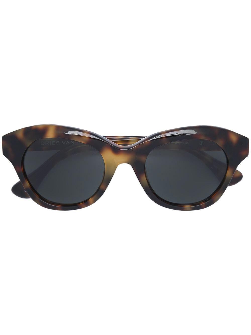 d3daa508ca5 Linda Farrow. Women s Dries Van Noten X Blurred Leopard Print Sunglasses