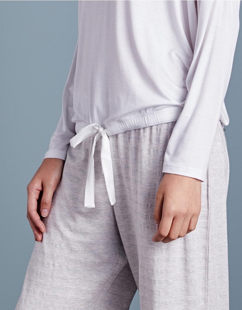 The White Company Metallic Stripe Tie Detail Pyjama Set in Blue - Lyst b097282cd