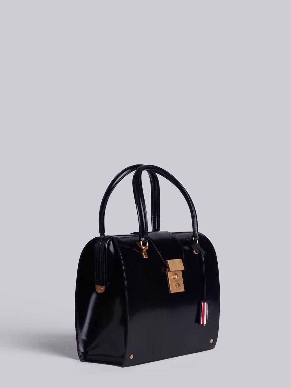 Lyst - Thom Browne Mrs. Thom Jr. Calfskin Bag in Black 5ced87958bb97