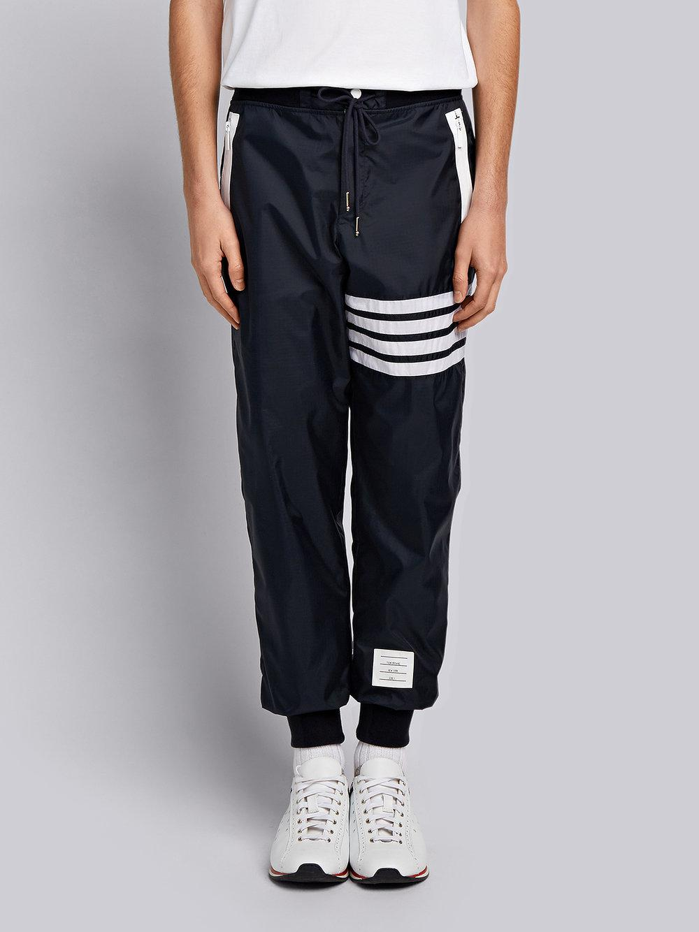 4-Bar Stripe Lightweight Ripstop Sweatpants - Blue Thom Browne Clearance Top Quality Cheap Affordable PlyfBUYx