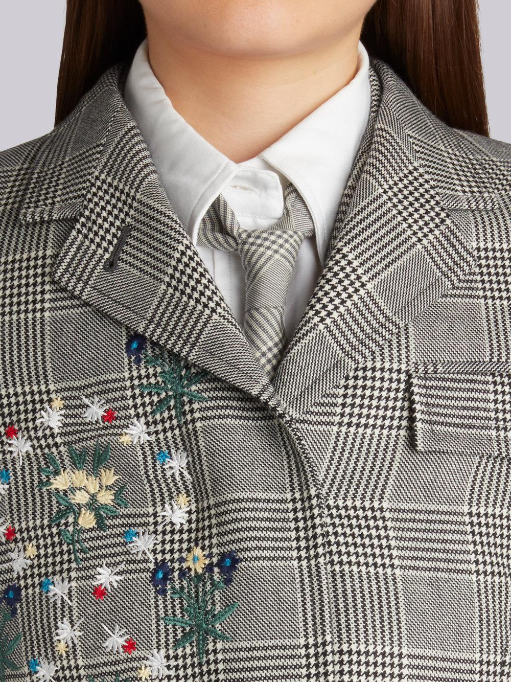 Thom Browne Classic Chesterfield Overcoat With Floral Wallpaper