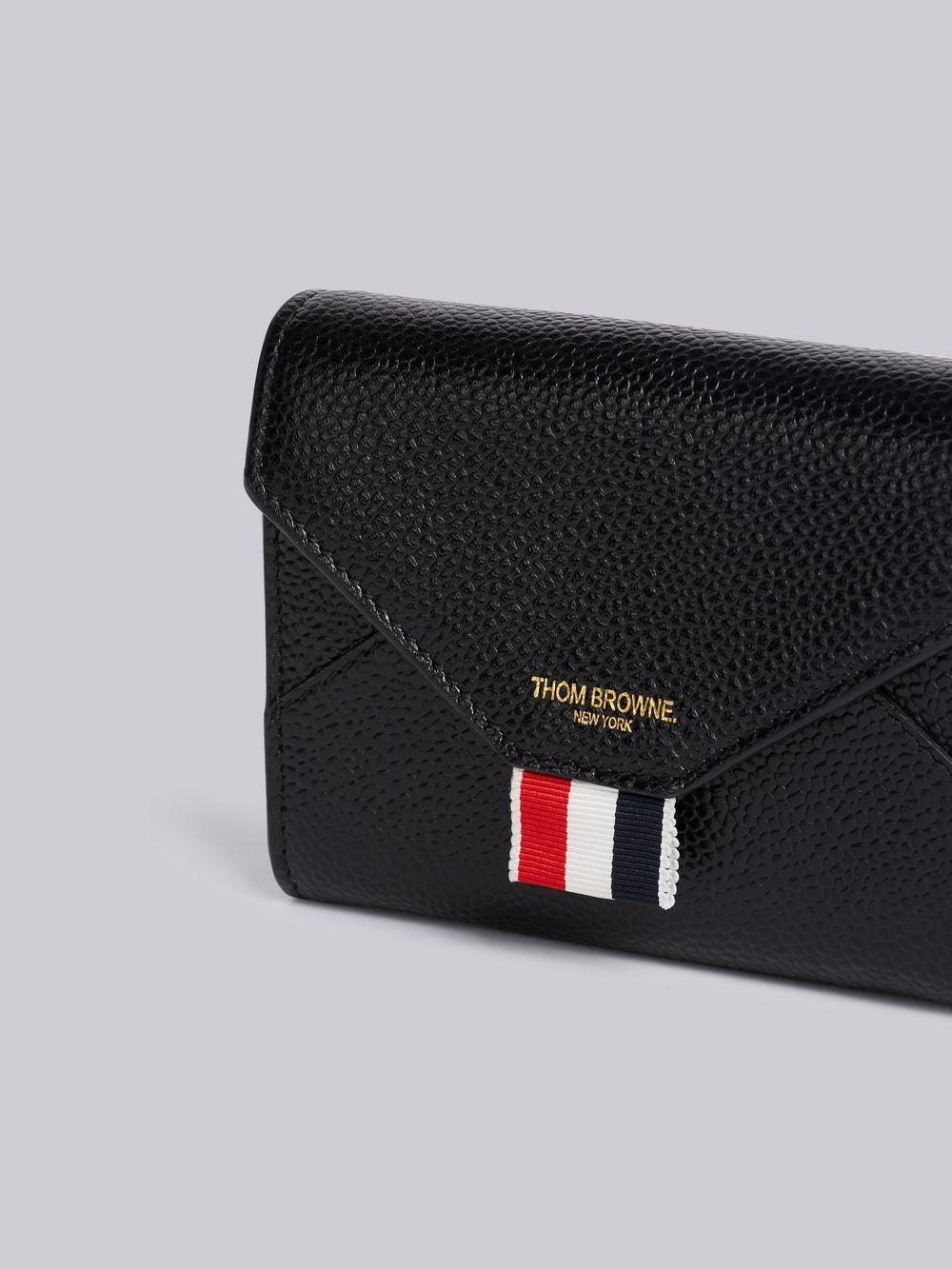 936d2bf1e51f Lyst - Thom Browne Pebbled Short Envelope Wallet in Black