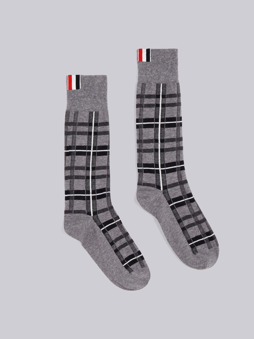 Free Shipping High Quality Thom Browne Thom Browne Tartan Jacquard Socks Footaction Cheap Online Sale Outlet xHVgWzr5Q