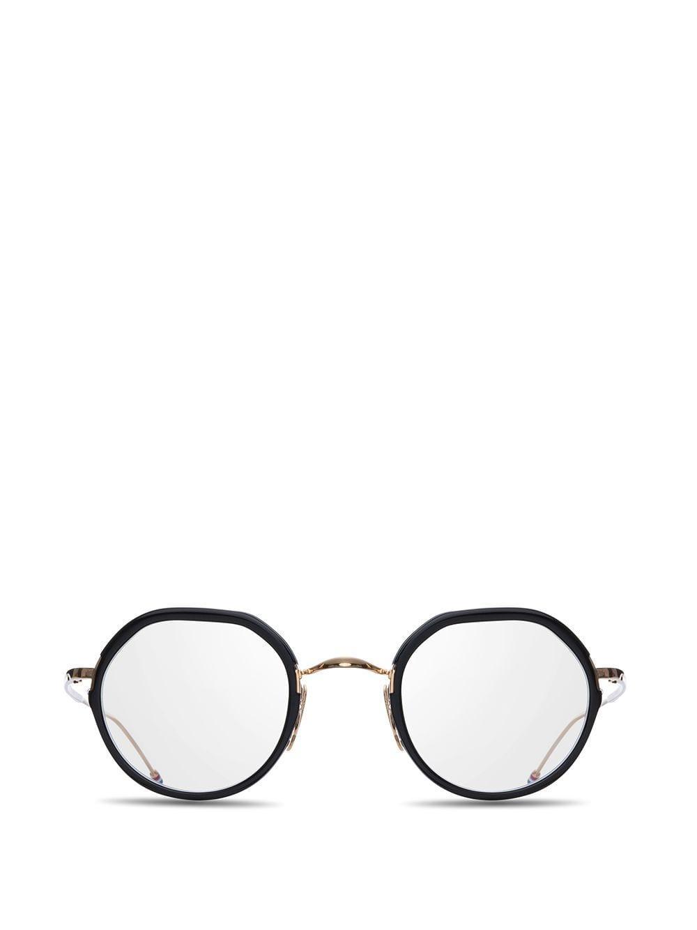 eb19a2256c Thom Browne - Black Oval Frame Glasses for Men - Lyst. View fullscreen