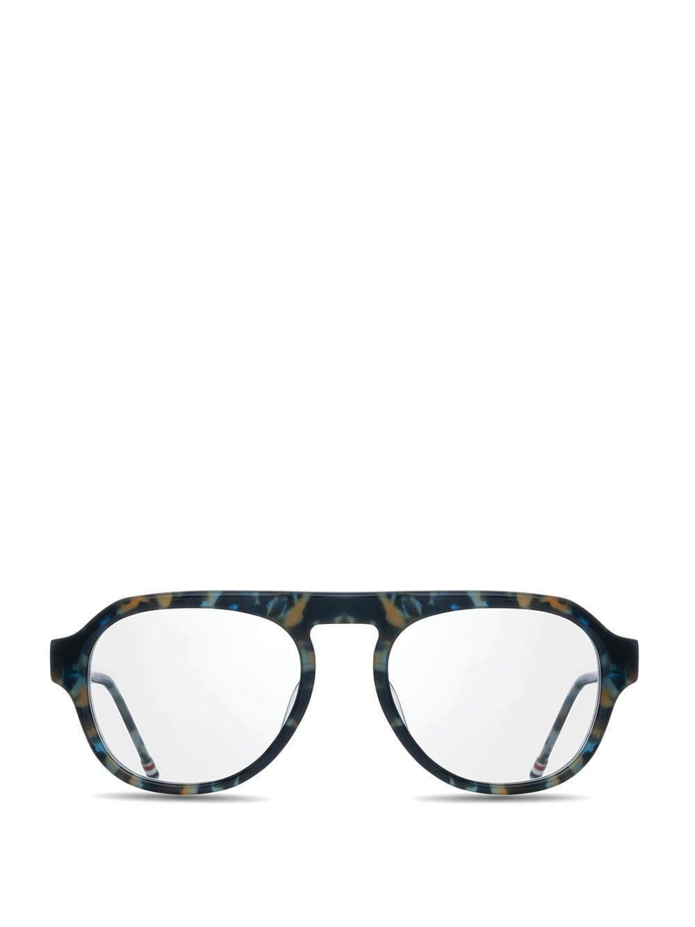 3178d206438 Thom Browne - Blue Navy Tortoise Glasses for Men - Lyst. View fullscreen