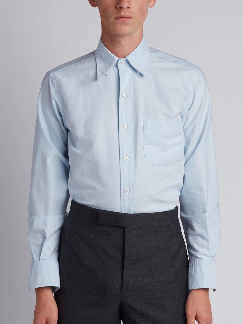 b56ec131b7f Thom Browne Classic Oxford Shirt in Blue for Men - Lyst