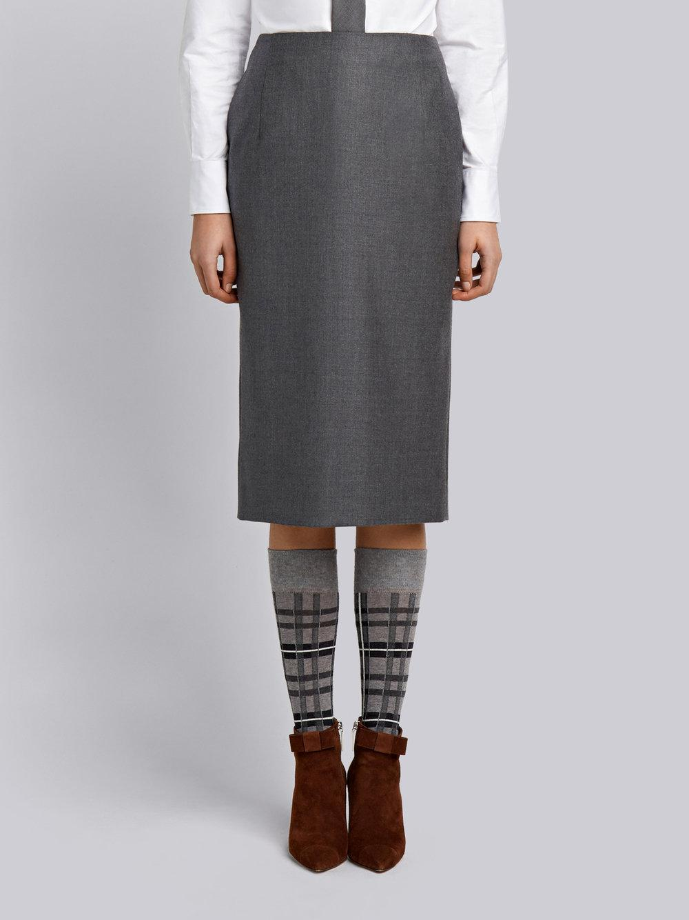 Thom Browne Striped Wool Twill Straight Skirt Discount Outlet Locations Outlet With Paypal Order Discount Popular Outlet Wholesale Price Clearance Pictures qKuxE51E
