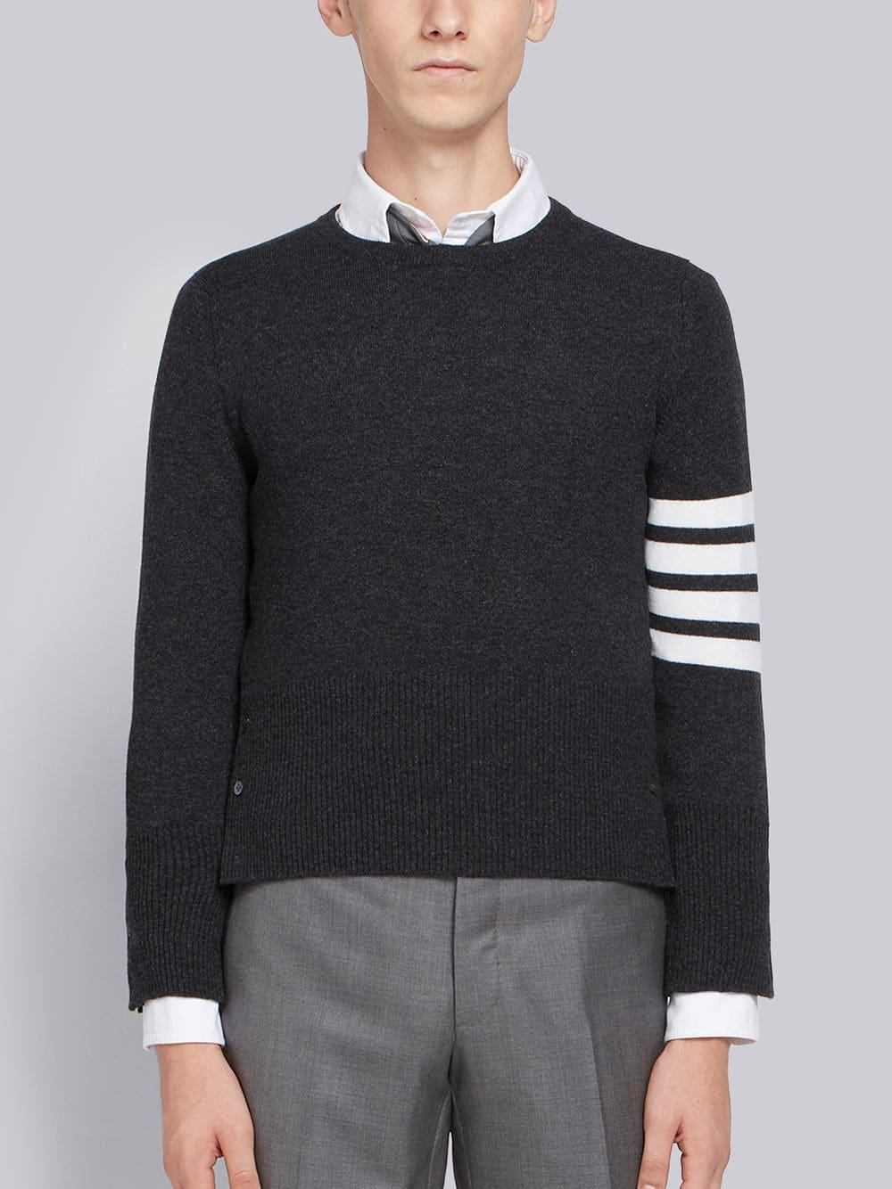 1419bc9471 Thom Browne Contrast Stripe Sweater in Gray for Men - Save 6% - Lyst