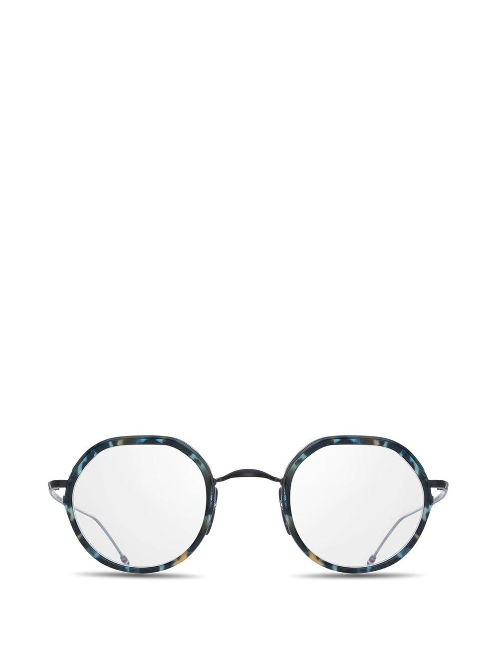 3f0b528bbd97 Lyst - Thom Browne Round-frame Glasses in Blue for Men