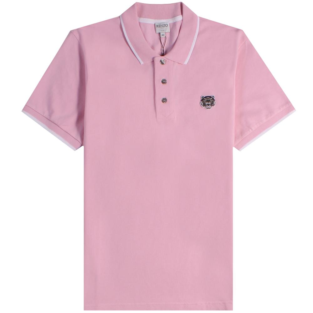 51cc2995 KENZO Tiger Polo Pink in Pink for Men - Lyst