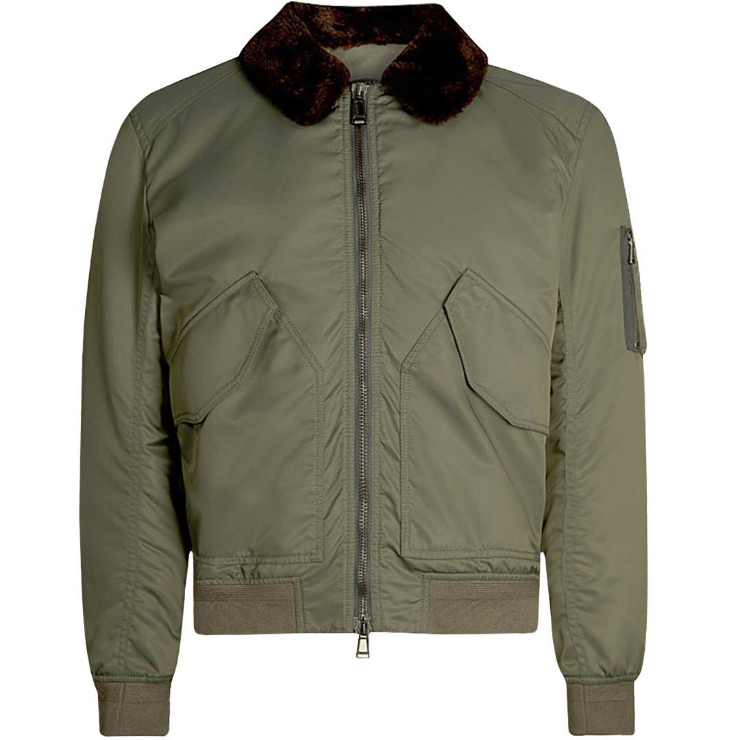 95743e857838 Belstaff Sudeley Shearling Jacket Green in Green for Men - Lyst