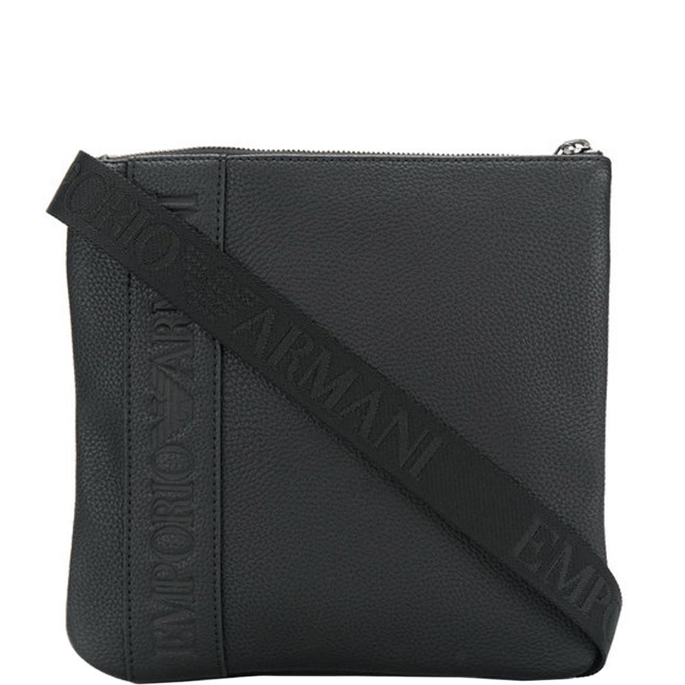 a12034550a83 Lyst - Emporio Armani Logo Shoulder Bag Black in Black for Men ...