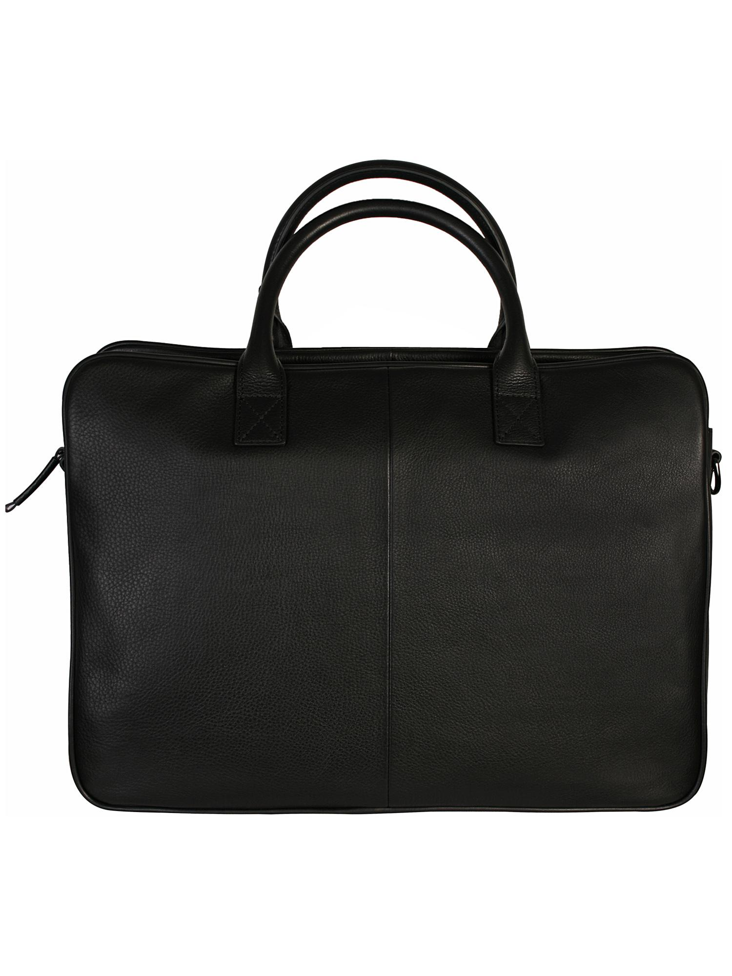 9d9b249e2bc Lyst - Armani Jeans Black Leather Briefcase Bag in Black for Men