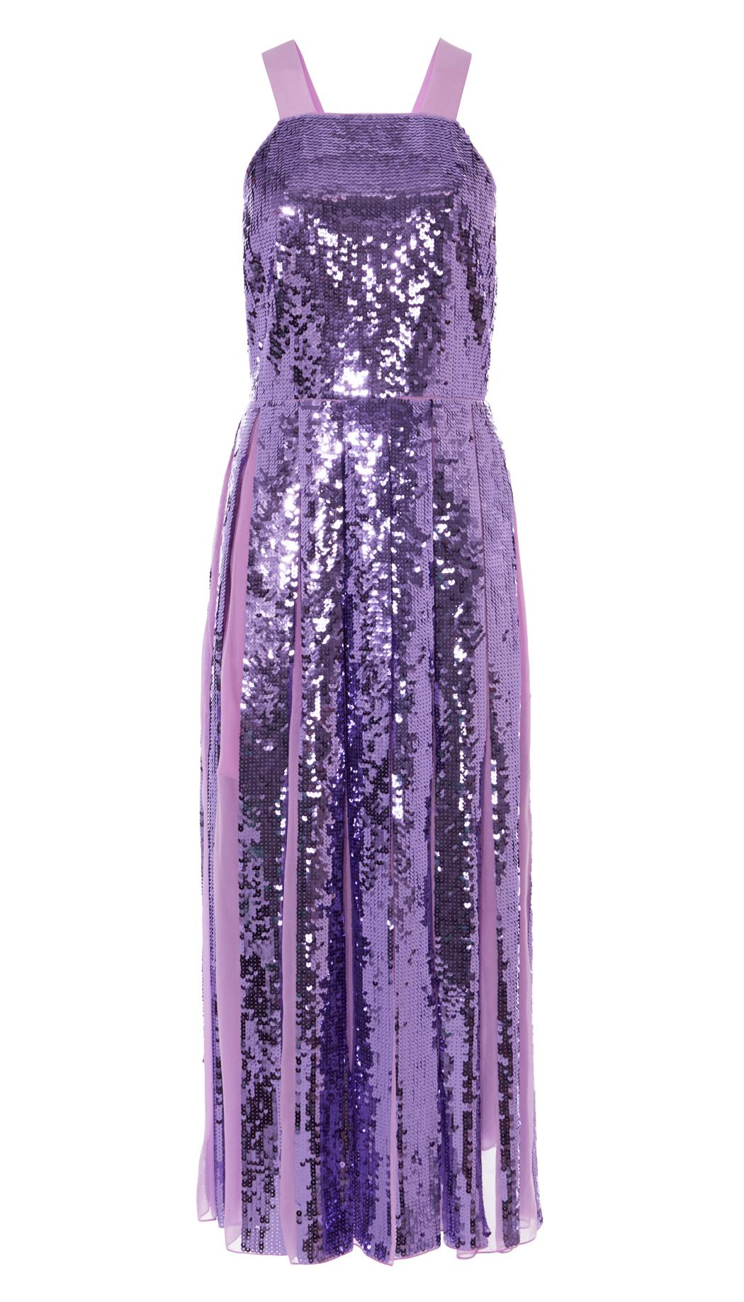941d77c90d8 Lyst - Tibi Sequined Overall Dress in Purple