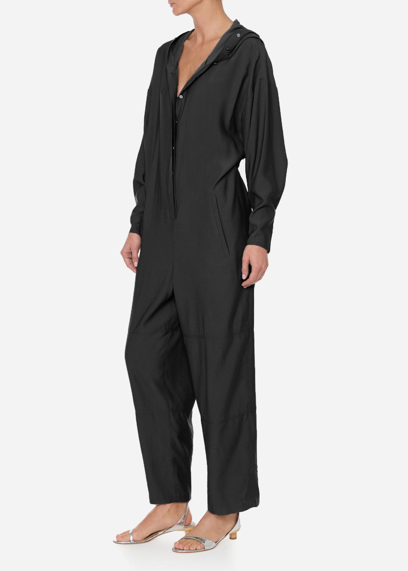 44eb6f4cdd9 ... Hoodie Jumpsuit With Open Back - Lyst. View fullscreen