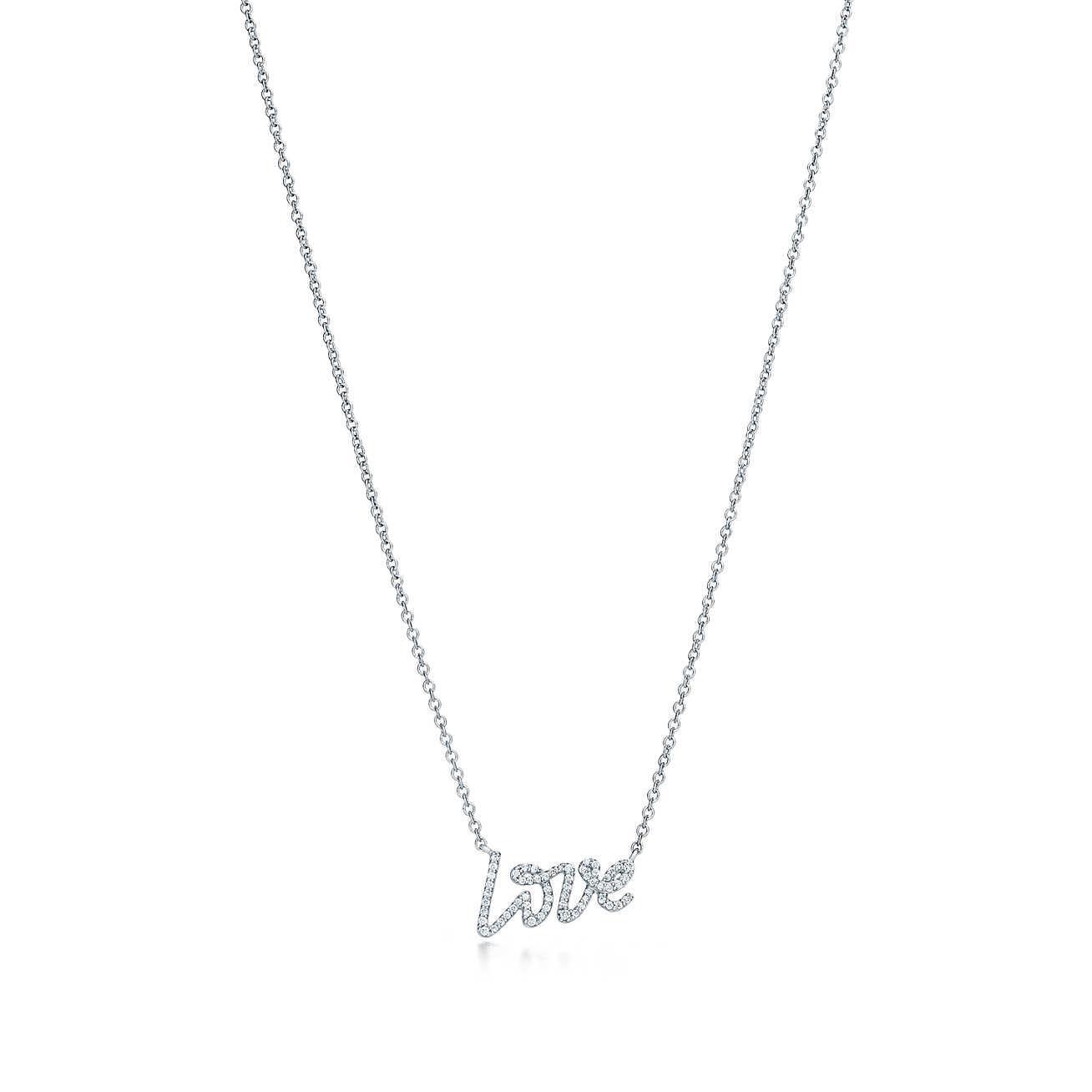b04276d09ecf Tiffany   Co. Paloma s Graffiti Love Pendant In 18k White Gold With ...