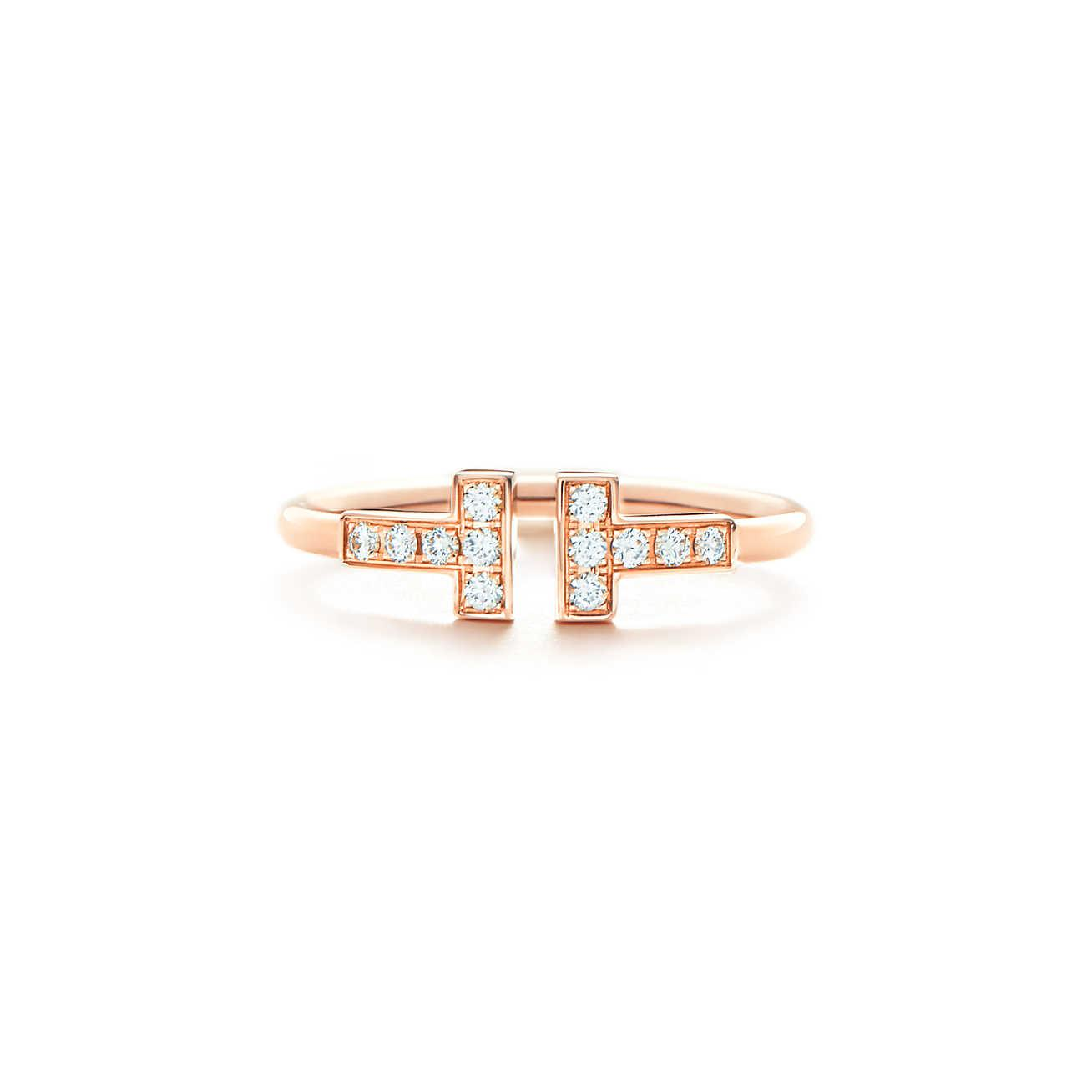 Tiffany T Two ring in sterling silver and 18k rose gold - Size 11 1/2 Tiffany & Co. mLhhS5E