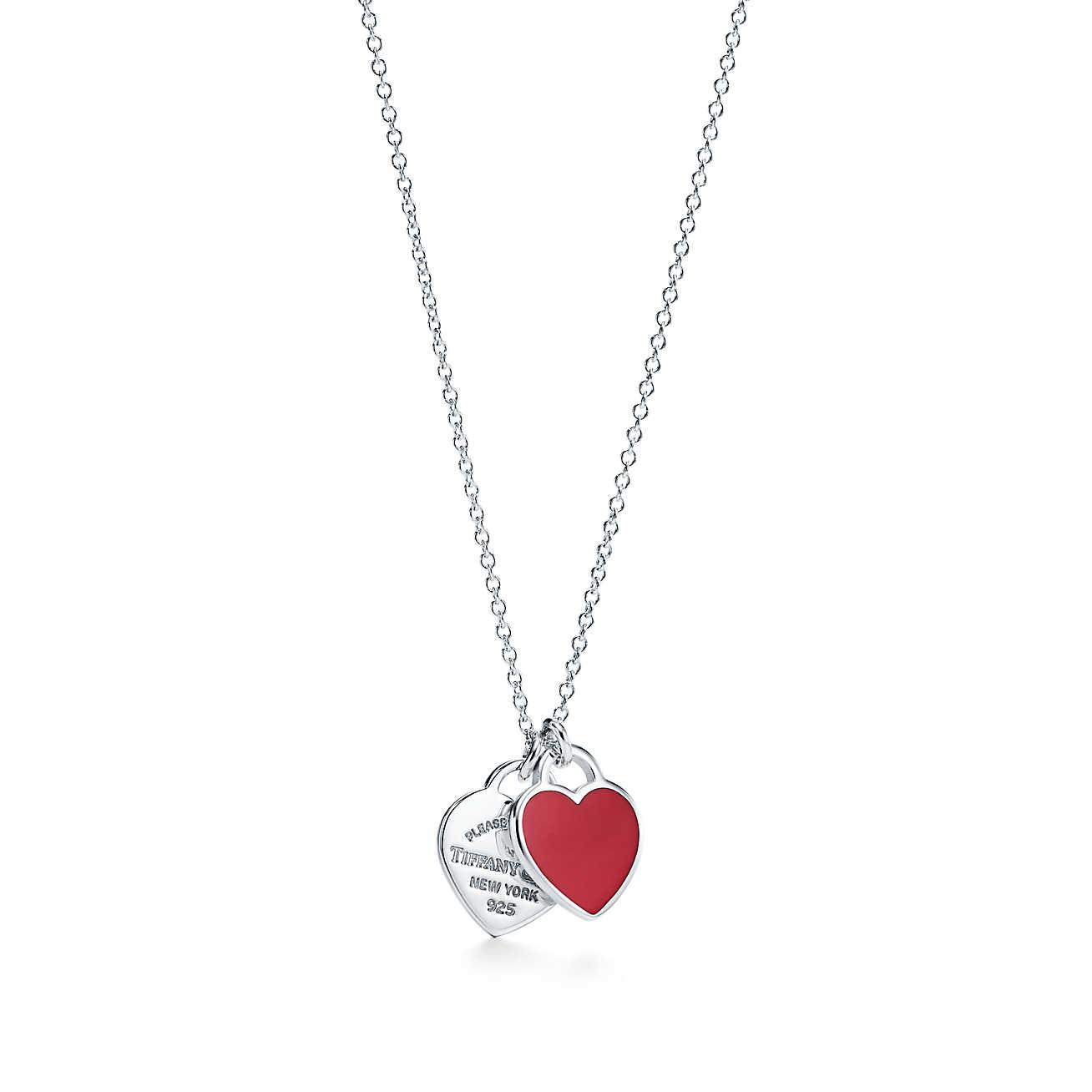 4f97d9ed8055 Tiffany   Co. Return To Tiffanytm Mini Double Heart Tag Pendant In ...