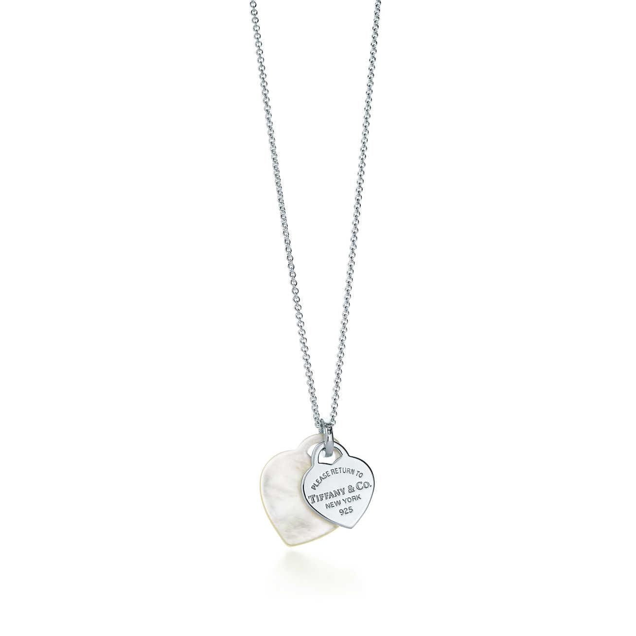 1f907f7d7 Tiffany Co Return To Tiffanytm Double Heart Pendant In Mother Of