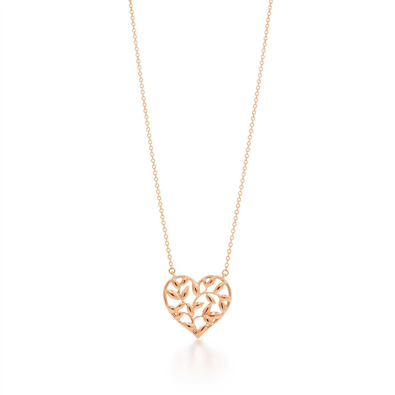 3fd82021f Tiffany & Co. Paloma Picasso. Olive Leaf Heart Pendant In 18k Rose ...