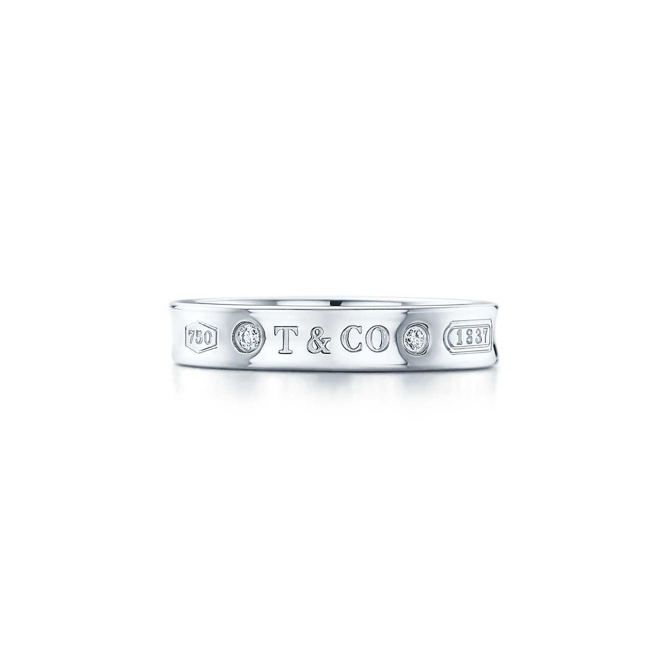 5a618e4f1 Tiffany & Co. Narrow Ring in White - Lyst