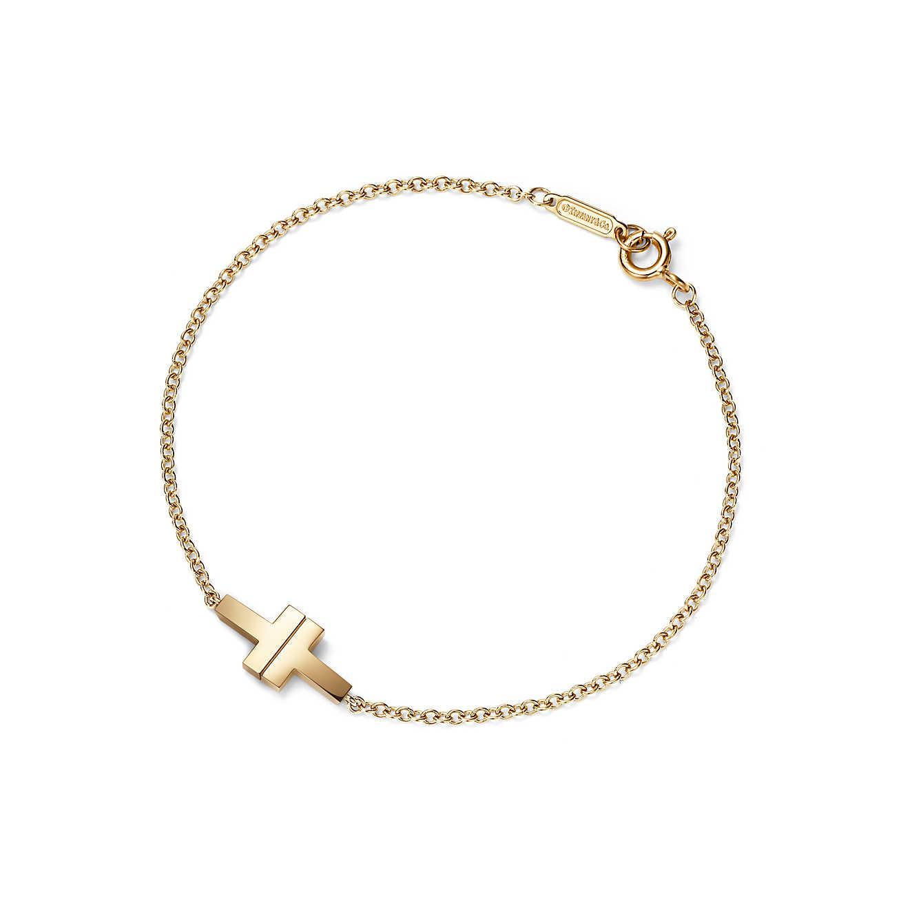adb0c2d33b23 Tiffany   Co. Tiffany T Two Single Chain Bracelet In 18ct Gold ...
