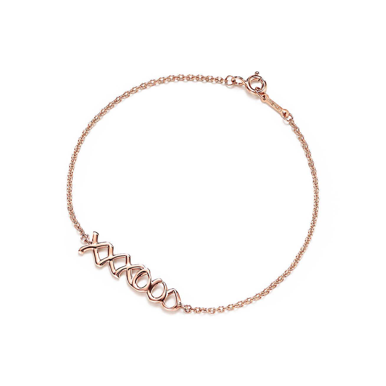 Palomas Graffiti kiss bracelet in 18ct rose gold, size medium Tiffany & Co.