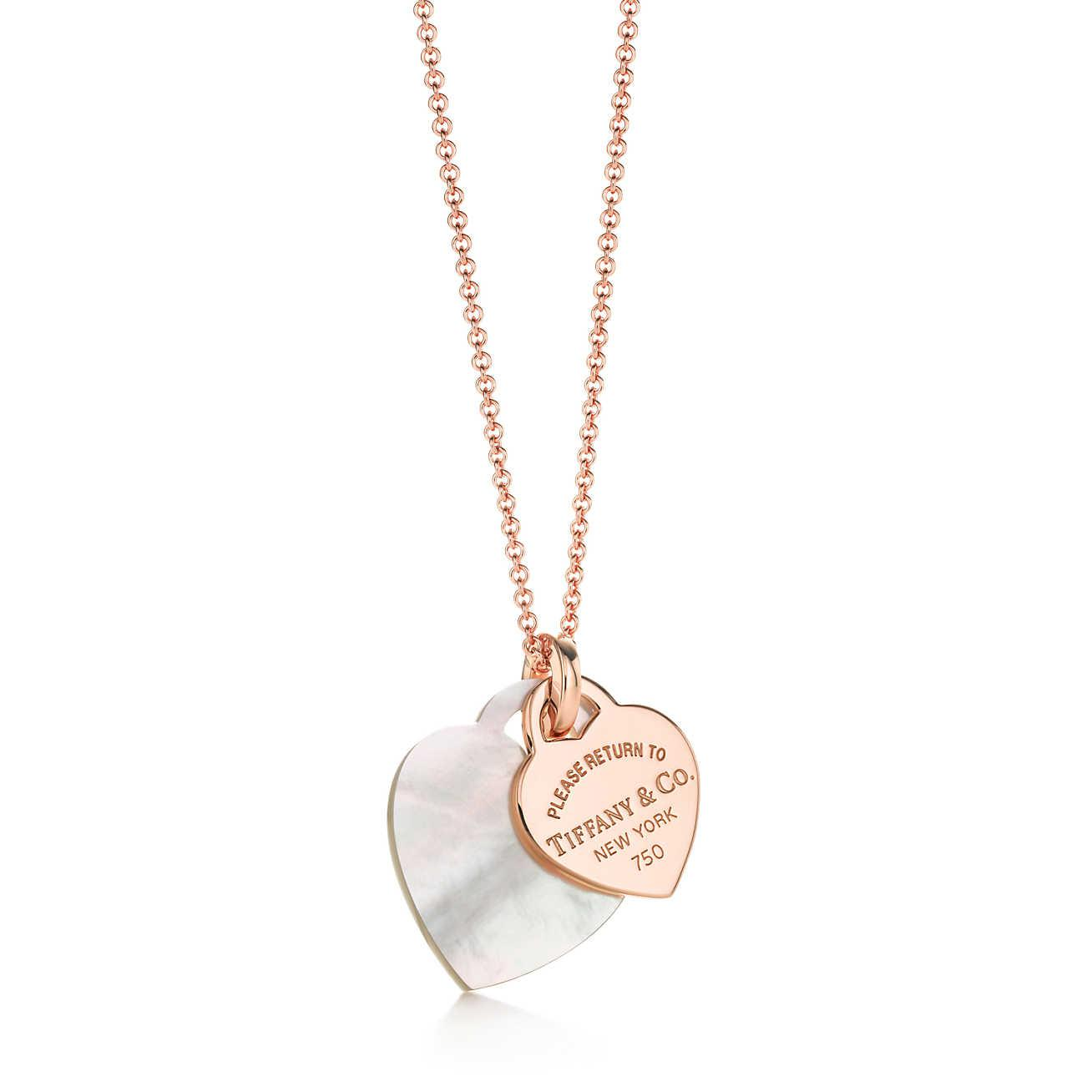 Tiffany co return to tiffanytmdouble heart tag pendant in mother tiffany co aloadofball Gallery
