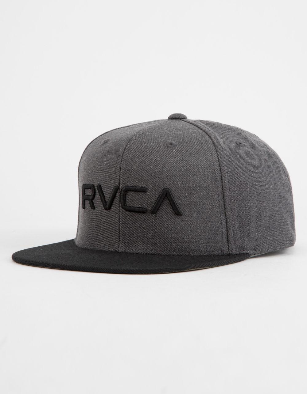 sports shoes 837c4 9d411 RVCA - Gray Twill Ii Charcoal Mens Snapback Hat for Men - Lyst. View  fullscreen