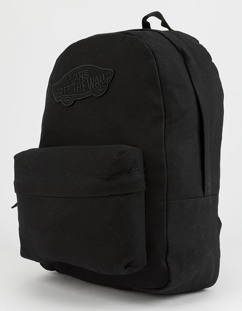 a1cbbbd81f9 Lyst - Vans Realm Black Backpack in Black for Men